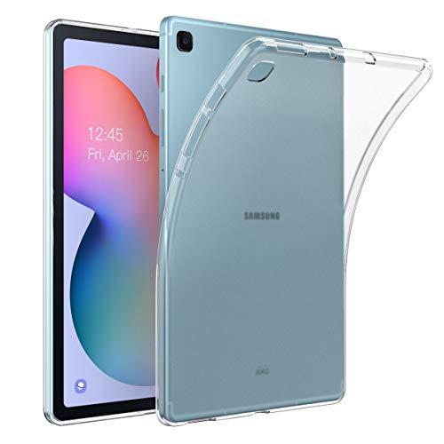 MoKo Funda Compatible con Galaxy Tab S6 Lite 2020, Superior Delgada Case con Tapa Trasera Esmerilada Translúcida Compatible con Galaxy Tab S6 Lite 10.4 2020 SM-P610/P615 - Esmerilado Transparente