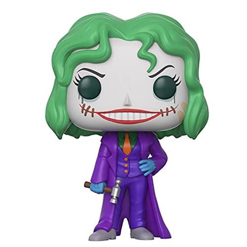 QIYV Funko Pop Movie Arkham Asylum Kawaii Q Versión Nendoroid Anime Figura Joker 203 # Figuras De Acción De Vinilo Pop En Caja Juguete 10Cm, Regalos De Cumpleaños para Niños