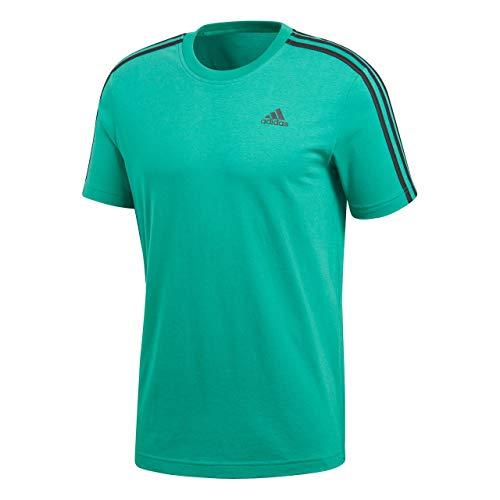 adidas Essentials 3de Rayas Camiseta de, Todo el año, Hombre, Color Bgreen, tamaño Extra-Large