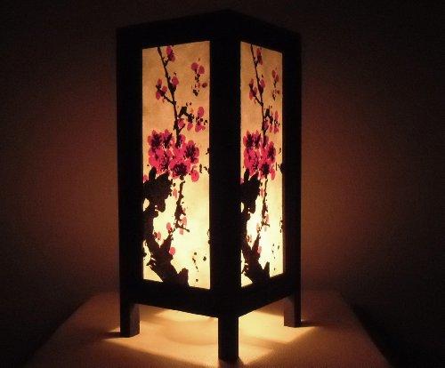 Seltene Asiatische Orientalisch Vintage Möbel Thai handgefertigt Buddha Stil Lampe Nachttische China Mei Blumen Zuhause Schlafzimmer Dekor Wohnkultur In Thailand