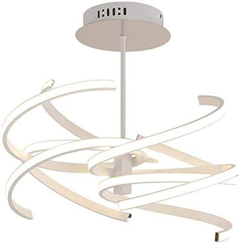 Kroonluchters Moderne High-end Led Restaurant Lamp Creatieve Kroonluchter LED Plafond Lamp Slaapkamer Lamp Plafond Lamp 4 Lamp Aluminium Plastic Woonkamer Eetkamer Office 74W 74cm (Wit Licht) Deco
