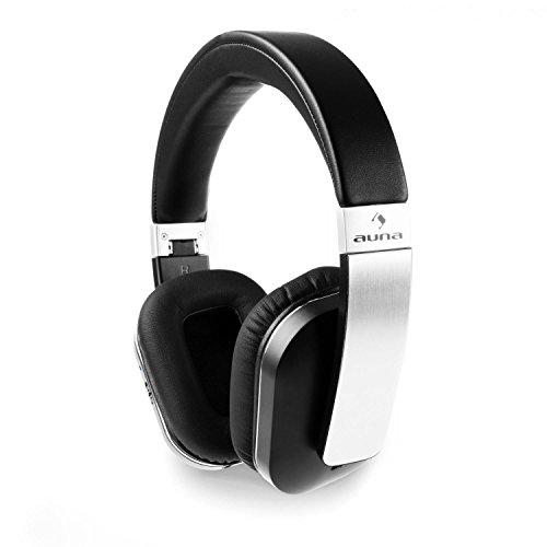 auna Elegance ANC • Auriculares inalámbricos Bluetooth 4.0 • Estéreo • Plegables • Función manos libres • NFC • aptX • Batería de iones litio • Tiempo de uso: 14 h • Plegable • Reducción ruido • Negro