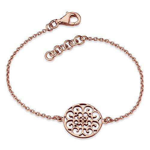 Engelsrufer Ornament Armband für Damen Rosévergoldet 925er-Sterlingsilber Länge 16 cm + 2 cm