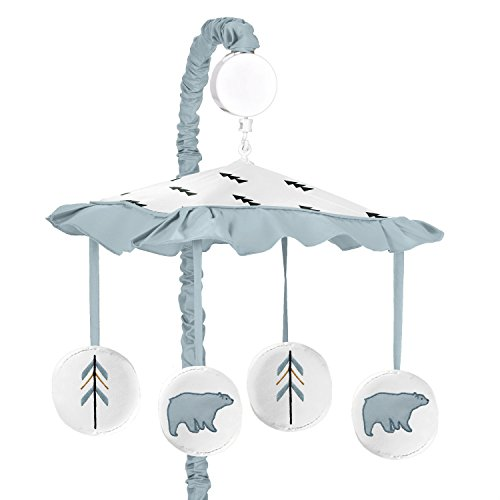 Musical Baby Crib Mobile for Bear Mountain Watercolor Collection by Sweet Jojo Designs