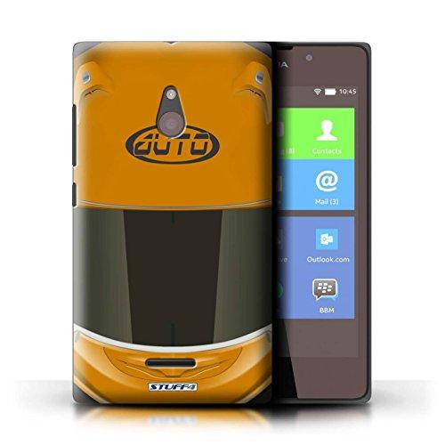Stuff4 telefoonhoesje/hoes voor Nokia XL/Superbike/Orange Design/Motorhelmcollectie