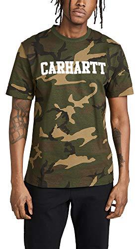 Carhartt Camiseta College Camuflaje para Hombre S Verde