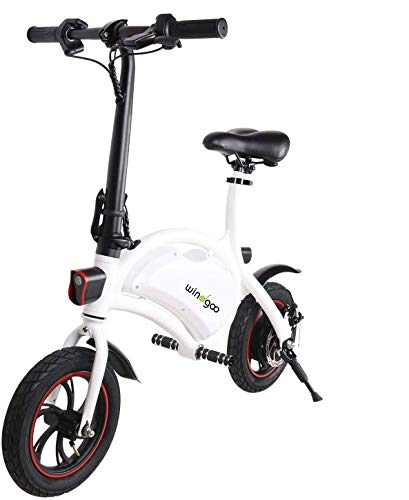 Windgoo Electric Bike, Foldablke 12 inch 36V E-bike with 6.0Ah Lithium Battery, City Bicycle Max Speed 25 km/h, Disc Brake