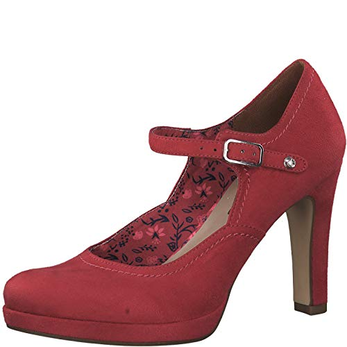 Tamaris Damen Plateaupumps 1-1-24451, Frauen Pumps,Plateau-Sohle,festlich,Oktoberfest,Dirndl,Wiesn,Trachten-Schuh,Touch-IT,Raspberry,38 EU / 5 UK