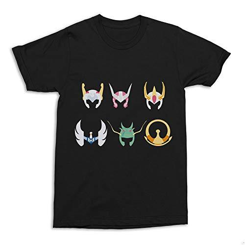 Camiseta Cavaleiros do Zodíaco Armaduras Anime Preta Adulto Unissex (G)