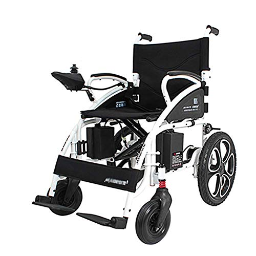 MJY Silla plegable plegable plegable de la ayuda de la movilidad de la energía, silla de ruedas eléctrica ligera de transporte plegable, silla de ruedas motorizada, silla de ruedas