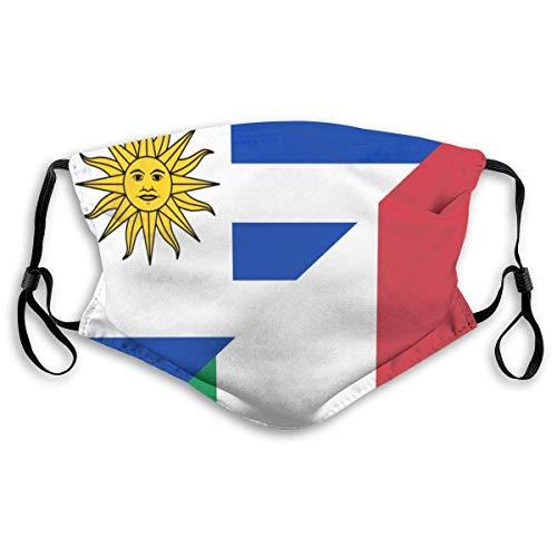 Bandera de Uruguay e Italia Cubie-rta Cara Boca Cubie-rta