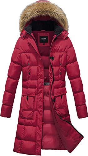 sunseen Women's Packable Down Coat Lightweight Plus Size Puffer Jacket Hooded Slim Warm Outdoor Sports Travel Parka Outerwear (S, Long-Purple)