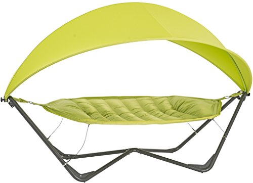 SORARA Hammock with Steel Frame Stand and Canopy for Sun Protection Patio Outdoor Backyard Garden Pool 11 x 5 ft, Green