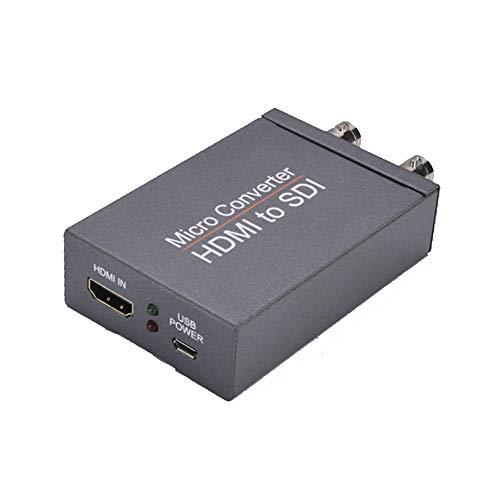 CALISTOUK Adaptador Hdmi a SDI de 2 vías,Conversor de vídeo, Convertidor 1080P Hdmi a 2 SDI Hdmi a SDI Adaptador HD de Nivel de transmisión HDMI a 3G-SDI HD-SDI para cámara