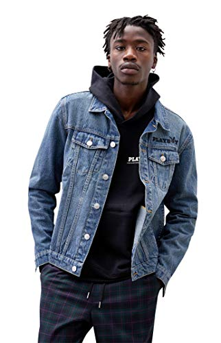 Playboy Men's Posse Denim Jacket - Blue Size Medium