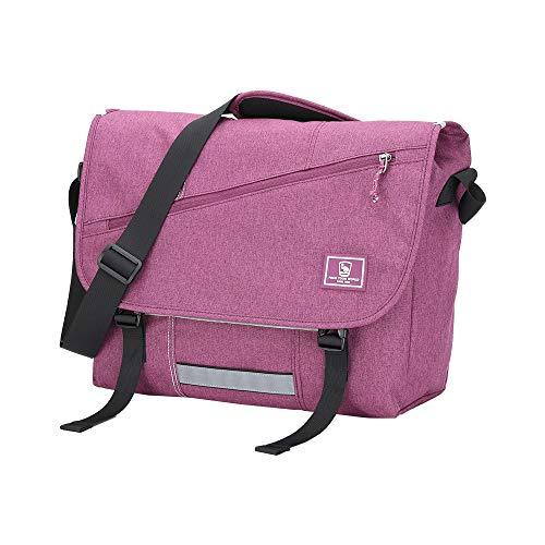 OIWAS Messenger Bag for Women - Canvas 15.6 Inch Laptop Satchel Computer Briefcase Mens Crossbody Bag School Backpack