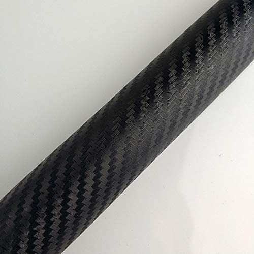 Moshone 30cmx127cm 3D-Carbon-Faser-Vinylfilm-Wraps Wasserdicht/Kratzfeste/Selbstklebende for Auto for PS4 for Xbox (Color Name : Black)