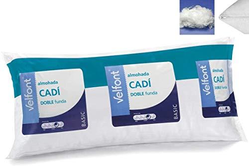Velfont Almohada Doble Funda CADI Microfibra Transpirable Todas Las Medidas (70cm)