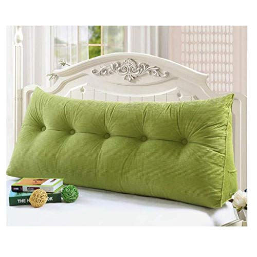 Hoofdeinde nachtkussen kussensloop leeskussen bed wig rugleuning taillekussen groen 7 maten (kleur: groen maat: 120 * 20 * 50) 90 x 20 x 50 cm, groen