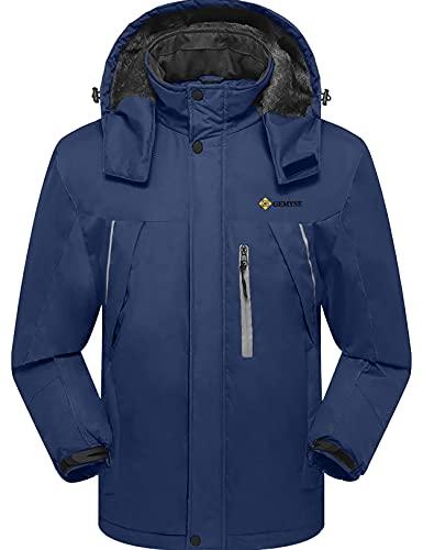 GEMYSE Men's Mountain Waterproof Ski Snow Jacket Winter...
