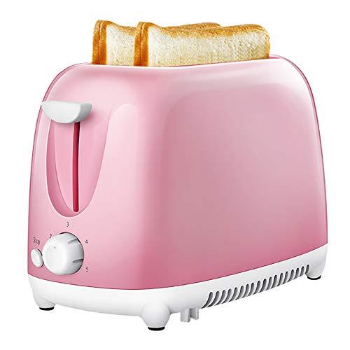 Toaster 2 Scheiben Automatik Toaster Mit 5 Bräunungsstufen, Breite Schlitze, Abnehmbare Krümelschublade, Auftau- & Reheat-Funktionen, 750W