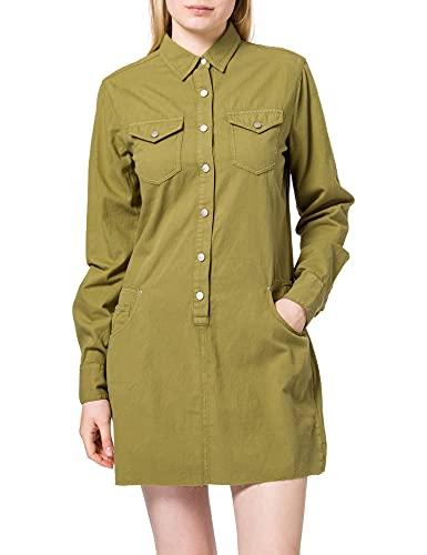 REPLAY W9644 Vestido, 739 Military, L para Mujer