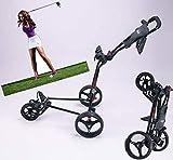 YGWLWL Chariot De Golf À 3 Roues Motrices,Chariots Pliants De Golf,Chariot À Main Pliable De Golf avec Roues Silencieuses Résistantes À l'usure,Faciles À Plier Et À Déplier,Noir