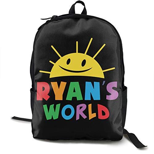 KNKN Ryan's World School Backpack Bag High Middle Bookbag for Men Women Boys Girls