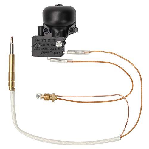 Coolrunner - Piezas de repuesto para calefactores de gas para exteriores, termopar (M8 x 1) y interruptor de descarga FD4 para calentador de gas propano