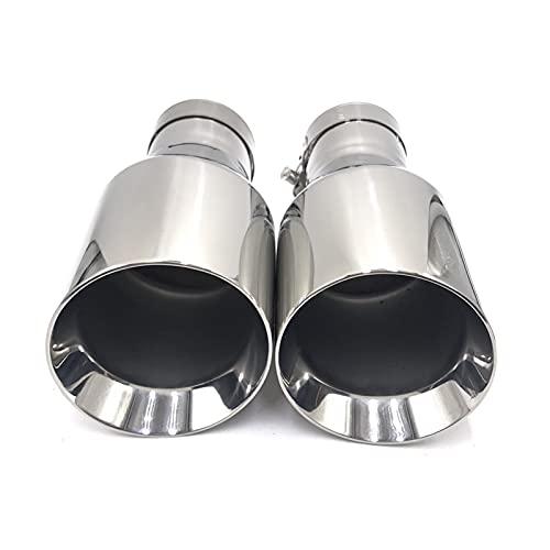 GCS Gcsheng più Nuovo Stile in Acciaio Inox universalexhaust System System End Tubo + Tipo di Scarico Auto 1 Pezzo (Color : in 51MM out 101MM)