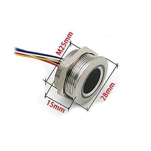 hgbygvuy Sensore del modulo del modulo del modulo di Impronta Digitale Capacitivo R503 Rung Rung Rung DC3.3V MX1.0-6pin S (Color : 15mm)