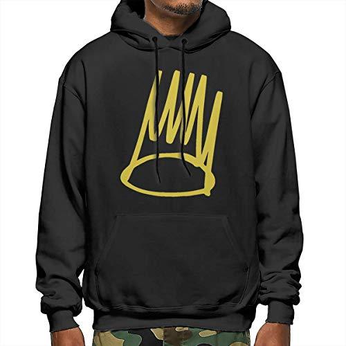 SusanRobey J. Cole Born Sinner Crown Mens Hoodies with Pocket Black M