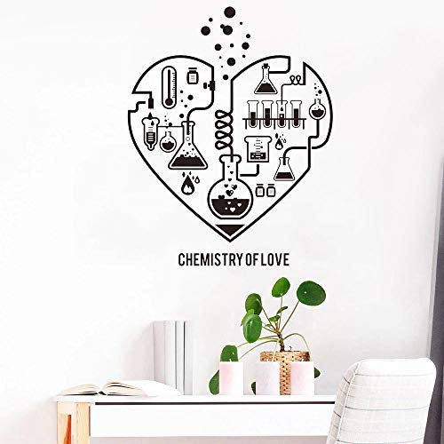 HGFDHG Love Chemistry - Pegatinas de pared para habitación de niños, diseño de corazón y ciencia