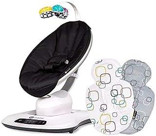 Cadeira de Descanso Para Bebê Mamaroo 4.0 Classic Black + Almofada Para Recém-nascido 4moms