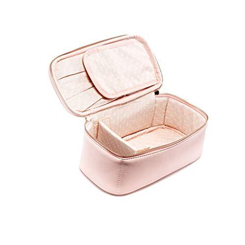 Zyj stores-Trousse de maquillage Sac cosmétique Petit Portable Simple Stockage Grande capacité Multifonction (Rose) (Color : Pink, Taille : 22.5 * 11 * 9CM)