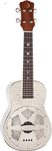 Luna Guitars UKULELE TIKI RESONATOR - Ukelele soprano, color marrón