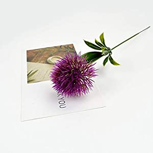 1Pcs Dandelion Flowers Home 25Cm Plastic Fake Artificial For Party Wedding Green Real Touch Decor,Purple
