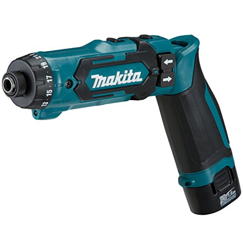 Makita DF012DSE power screwdriver/mpact driver Negro, Azul 200 RPM - Destornillador (7,2 V, Ión de litio, 1500 mAh, 44 mm, 218 mm, 142 mm)