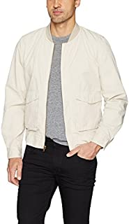 Joe's Jeans Men's Military Bomber Jacket, Ecru, M