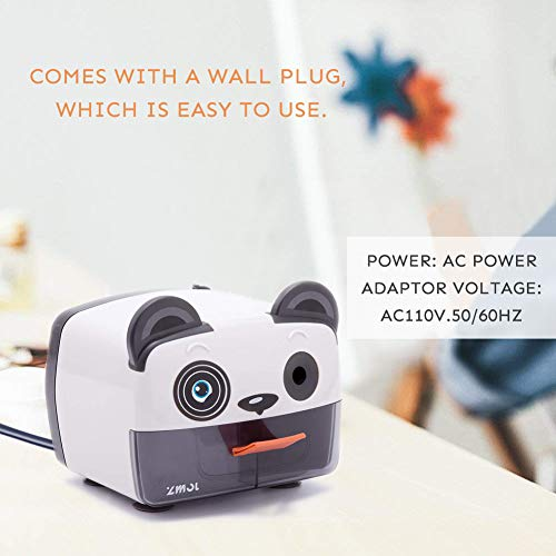 Electric Pencil Sharpener,Heavy Duty Helical Blade Sharpeners Plug in for Kids Artists Classroom Office School,Auto-Stop Feature for No.2 and Colored Pencils (Panda) Photo #2