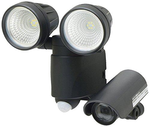 【Amazon.co.jp限定】高儀 LEDセンサーライト ダブル 6W×2 ブラック 録画機能付 防犯用品 ASLT-6BK