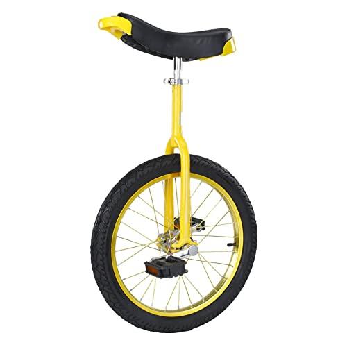 HXFENA Einrad,Kinder Erwachsene Akrobatik LaufräDer Einrad Skidproof Verstellbar Konturierter Ergonomischer Sattel Geeignete HöHe 150-175 Cm / 20 Inches/Yellow
