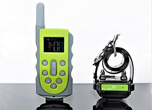 KOOLKANI 650 Yards Remote Dog Training Collar Obedience Trainer:Rechargeable Waterproof Collar w/10 Levels of Adjustable Static Stimulation,Beep Tone and Vibration (One-dog Trainer)
