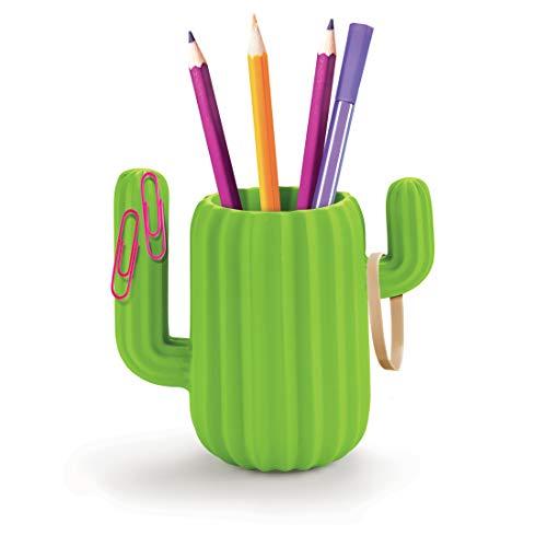 MUSTARD - Cactus Desktop Organizer I Schreibtisch Stiftebehälter I Schreibtischköcher I magnetische Zweige für Büroklammern I Behälter für Stifte I Büro I Stifteablage I Stifteköcher I Kaktus - Grün