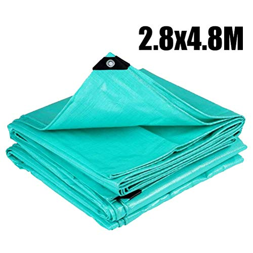 ZIJIAGE Green Waterproof Pool Cover, Solar Cover for Above Ground Pool, Round Easy Set Pool Cover, Protector Foot Above Ground Protection Swimming Pool,280480CM