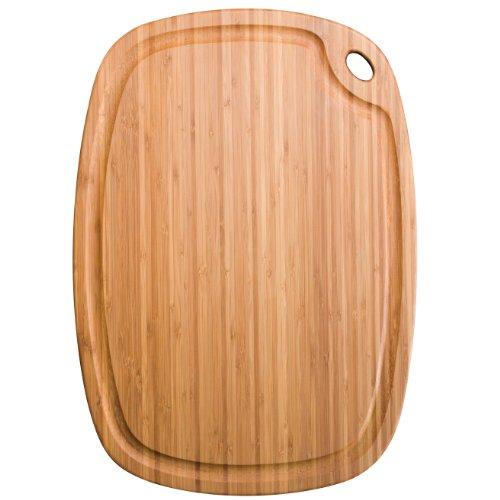 Totally Bamboo BA202228 Planche à découper Greenlite avec rigole en bambou compatible lave-vaisselle 52 x 37 cm
