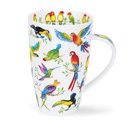 Dunoon Tasse aus feinem Porzellan, Henley-Form, hergestellt in England - Jungle Jive