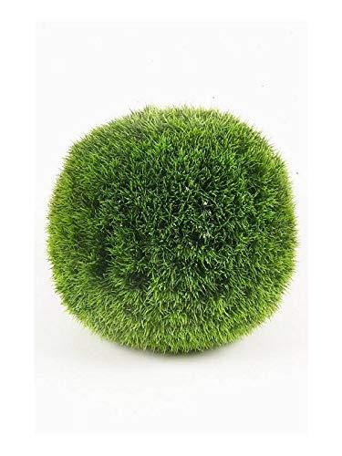 artplants.de Set de 2 Bolas de plástico con Juncos Opal, Verde, Ø35cm - Pack de Bolas de Carrizo sintético - Juego de arbustos Redondos Artificiales