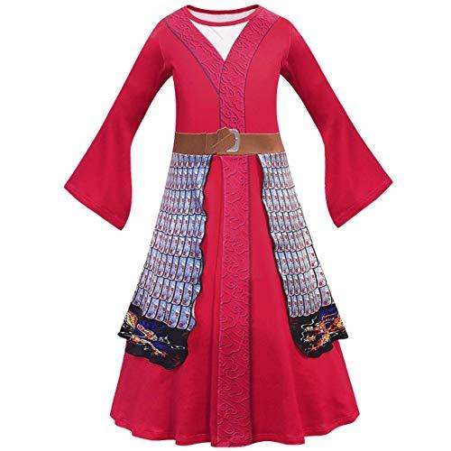 Kimono para niñas y niñas, disfraz de princesa de heroína china, disfraz de Halloween, cosplay (estilo 1, 9-10 años)