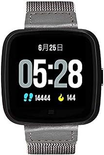 Monitores de actividad Pulsómetro recordatorio reloj / llamada inteligente G12 reloj correa desmontable con grado de protección IP67 Bluetooth reloj puede ser usado underwatersteel ( Color : Black )
